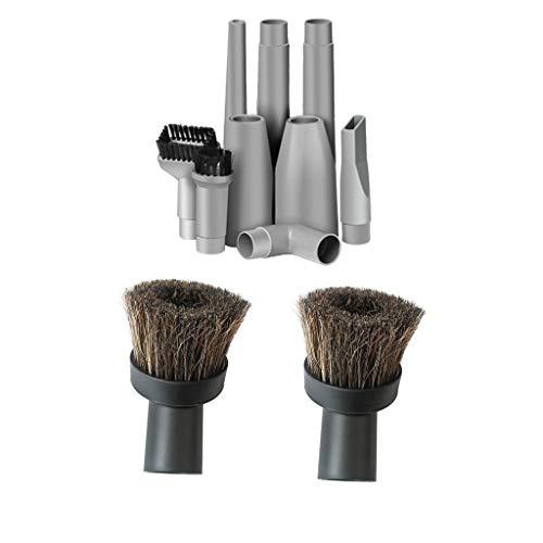 B Blesiya 11pcs Staubsauger Befestigung Werkzeug Kits, Konverter Adapter Verlängerungsrohr Ersatz Bürste Set -