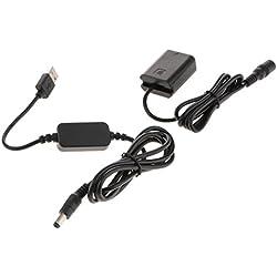 Homyl FW50 Dummy Batterie Pack Coupleur DC + Câble D'Alimentation USB Pour Sony A7 NEX-5 5R 5T 5TL A5100 A5000 A7S A7R RX10 NEX-7 Caméra