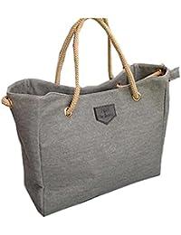 Hengsong Style Mode Toile Sac à contrat Grand Sac Shopping Bag Sac à bandoulière pour les Femmes