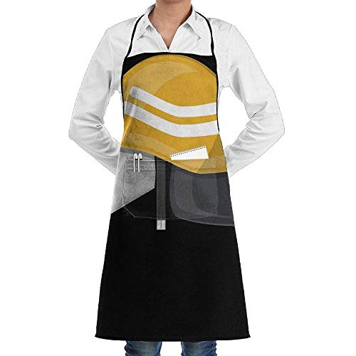 Firemans Jacke (Hipiyoled Grill Aprons Kitchen Chef Bib Firefighter Fireman Helmet Extra Long Adjustable Ties for Cooking,BBQ,Baking)
