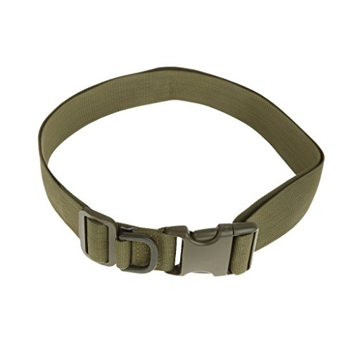 mi ji Jewelry 120cm Tactical army Quick Release Rescue Military Rigger Belt strap brown - Army Green, 150cm