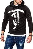 JACK & JONES Herren Hoodie Kapuzenpullover Sweatshirt (M, Black)
