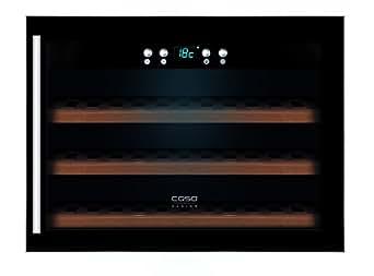 Caso winesafe 18EB Design Réfrigérateur à vin pour jusqu'à 18bouteilles de montage (jusqu'à 310mm Hauteur), une zone de température 5–22°C, Classe énergétique A