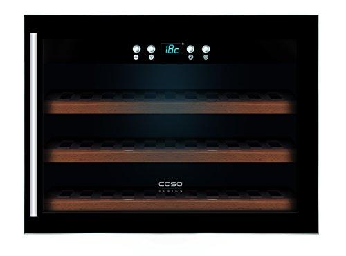 CASO WineSafe 18 EB Design Einbauweinkühlschrank für bis zu 18 Flaschen (bis zu 310 mm Höhe), eine Temperaturzone 5-20°C, Getränkekühlschrank, Energieklasse A