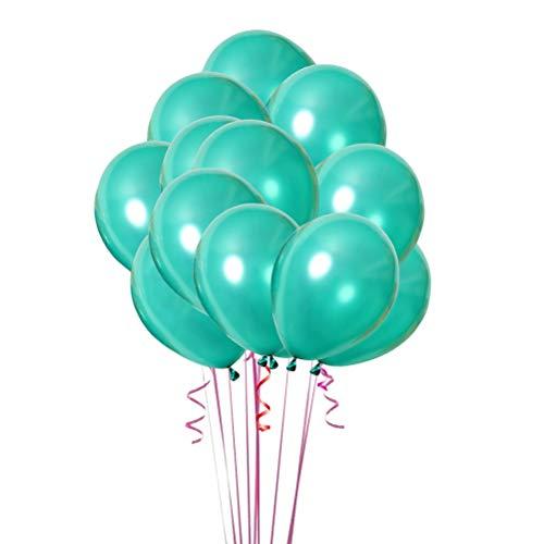 Toyvian Party verdickte Perlglanz-Latex-Luftballons für Geburtstags-Dekorationen, 20 Stück, 25,4 cm, dunkelgrün