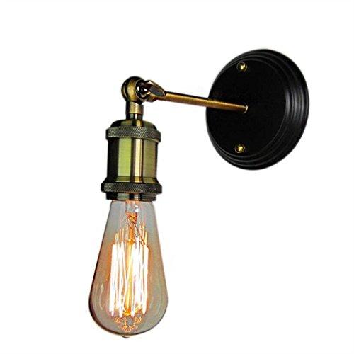 KKVV Vintage industriale del riparo della parete della luce della lampada da parete in ottone (Lampada Da Parete Finita)