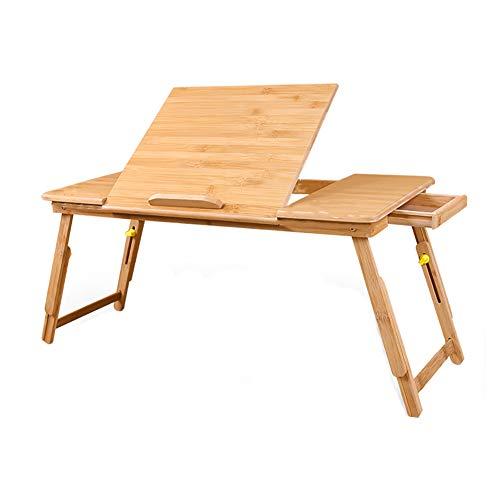 LFF- Scrittoio Pieghevole Pieghevole per scrivania da Tavolo Pieghevole in bambù con Supporto da Tavolo per Laptop