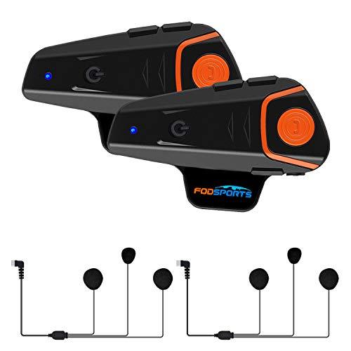 Fodsports BT-S2 Intercomunicador Motocicleta Auricular