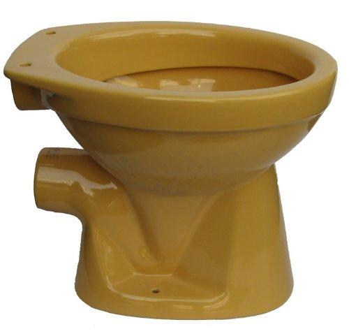 Cornat Farbklassiker Tiefspül-WC, universal, Nostalgiefarbe: Curry