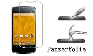 Panzerfolie Klar Clear Panzer Schutz Folie Display für LG Google Nexus 4 E960