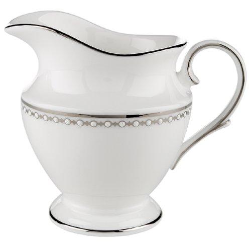 (Lenox Pearl Platinum Fine Dinnerware, Formal, Creamer, White) - Lenox Pearl Platinum Creamer -