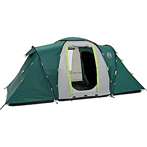 coleman unisex vis-a-vis spruce falls 4 plus tent, green/grey, one size