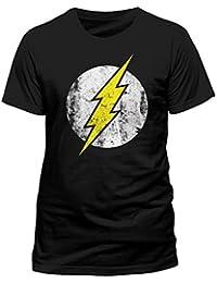 CID - DC Comics Herren T-Shirt THE FLASH - LOGO