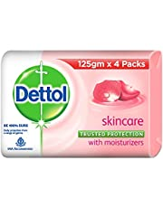Dettol Skincare Germ Protection Bathing Soap bar, 125gm (Buy 3 Get 1 Free)