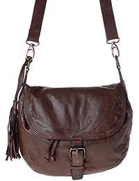 DuDu 580-1083-59 - Bolso al hombro de Piel para mujer Marrón marrón compact