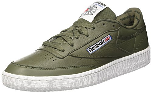 Reebok Herren Club C 85 So Gymnastikschuhe, Grün (Hunter Green/Primal Red/Black/White/vital Blu), 40.5 EU -