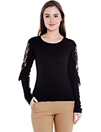 Frill Lace Panel Top