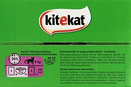 Kitekat Katzenfutter Nassfutter Adult für erwachsene Katzen Markt Mix in Gelee, 48 Portionsbeutel (2 x 24 x 100g) - 5