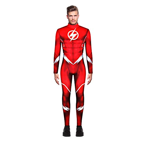 Deadpool Kostüm Hund - Leezeshaw Herren The Flash Kostüm Halloween