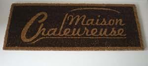 """Paillasson Tapis d'entrée XL """"Maison Chaleureuse"""" 100x40 cm"""