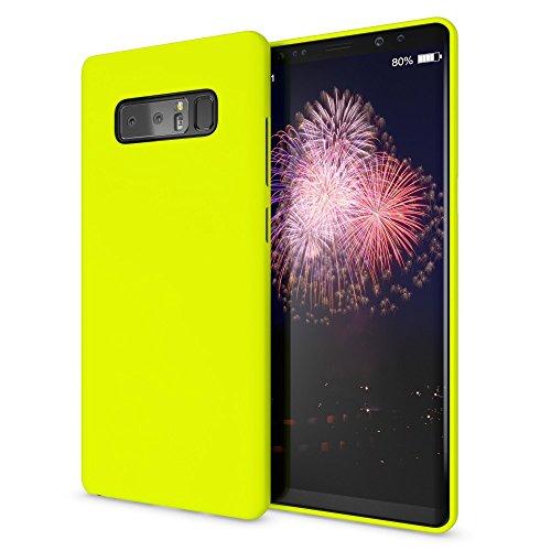 NALIA Handyhülle kompatibel mit Samsung Galaxy Note 8, Ultra-Slim TPU Silikon Neon Case, Dünnes Cover Gummi Schutzhülle Skin, Etui Handy-Tasche Backcover Smartphone Bumper, Farbe:Gelb Gummi-gel Cover