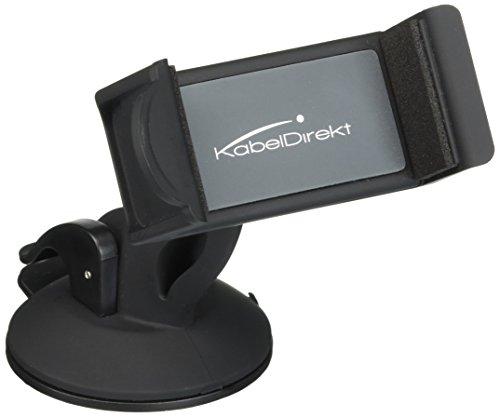 KabelDirekt Universal-Geräte-Halter (Gerätehalterung fürs Auto) für die KFZ-Windschutzscheibe- TOP Series