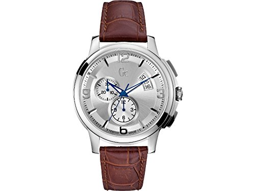 Guess Collection X83005G1S Stainless Steel Case Brown Calfskin Mineral Men's Watch