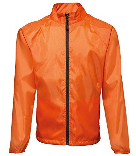 MAKZ Herren Mantel Orange - Orange/ Black
