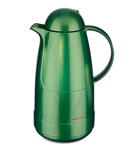 Rotpunkt Isolierkanne 215 1,5 l (Shiny Jade) | Doppelwandige Vakuumisolierung | Zweifunktions-Drehverschluss | BPA Frei- gesundes Trinken | Made in Germany | Warm + Kalthaltung | Glaseinsatz