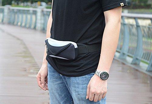 Jiangu, borsa sportiva, uomini e donne corsa attrezzature, mobile phone bag, marsupio multifunzionale impermeabile mini fitness, Grey Grey