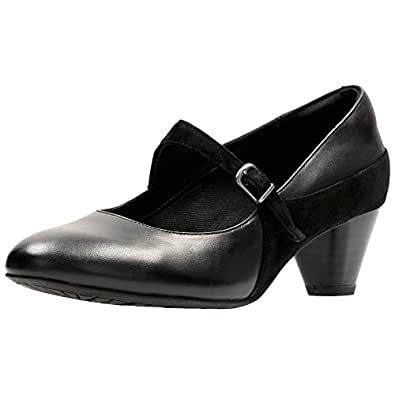 Clarks Denny Bradford Womens Mary Jane Style Shoes 6 Black