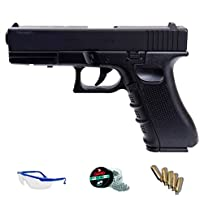 FS 1501 Pack Pistola de Aire comprimido (CO2) y balines de Acero (perdigones BBS) Calibre 4.5mm. Réplica Glock 17 <3,5J