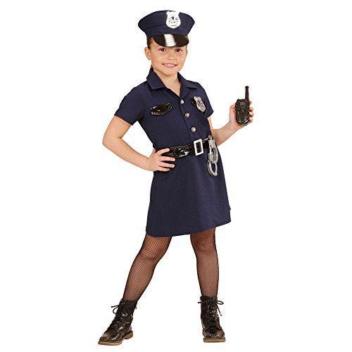 Imagen de widmann 49086–disfraz para niños agente de policía, vestido, cinturón, sombrero, esposas, de walkie talkie, tamaño 128 alternativa