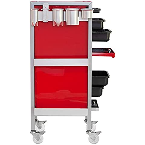 KAYLINE Skate Kart SK-38 Rollabout In Lipstick Red w/Metallic Silver Frame + Pair of Side Baskets & AH1 Tool Organizer.+ FREE Apron ($25 value) by