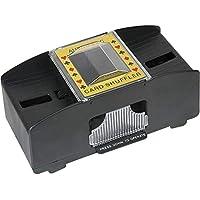 SUNSETGLOW Card Shuffler Electronic Shuffler Card Automático Operador a batería Clasificador de Tarjetas Madera, para póquer, Rummy Shuffler automático de Cartas Juego de Mesa Póquer Naipes