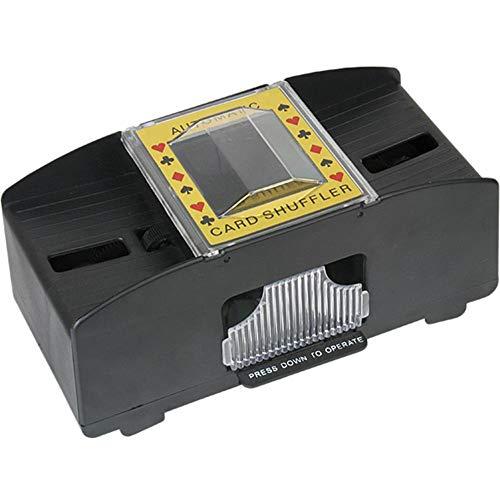 Hölzerner Elektrischer Automatischer Kartenmischer Für Brettspiel-Poker Spielkarten, Mischt 1 Oder 2 Kartendecks Mit Einem Knopfdruck. (Nicht Mitgelieferte Karten)