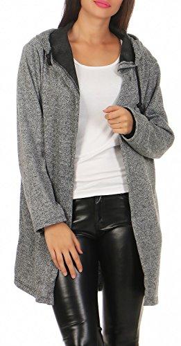 Damen Pullover Mantel Hoodie Kapuzenpullover Sweatshirt-Jacke ( 588 ), - Damen Mantel Pullover
