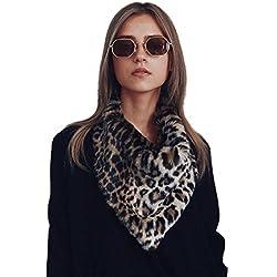 DINGANG - Bufanda - para mujer multicolor leopardo