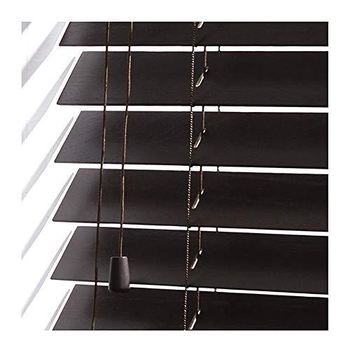YJFENG-Jalousien fenster Fenster Holzvorhänge Vertikales Heben Und Fallen Wasserdicht, Licht Einstellen Hotel Büro 45 Größen (Color : Black, Size : 75x160cm)