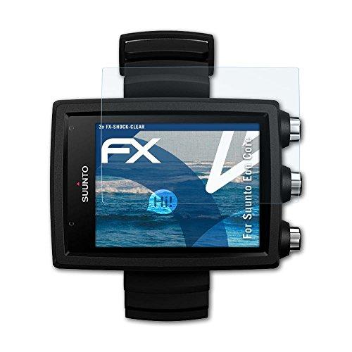 atFoliX Schutzfolie kompatibel mit Suunto Eon Core Panzerfolie, ultraklare und stoßdämpfende FX Folie (3X)