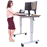 "Luxor Standup-CF48-DW 48"" Crank Adjustable Computer Workstation Stand Up Desk"