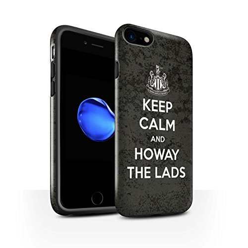 Offiziell Newcastle United FC Hülle / Glanz Harten Stoßfest Case für Apple iPhone 8 / Toon On Muster / NUFC Keep Calm Kollektion Howay Jungs