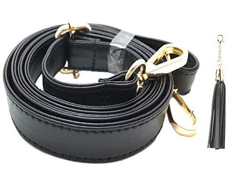 Beaulegan, tracolla in pelle di microfibra, ricambio per borse e pochette, lunghezza regolabile 80-150 cm, larghezza 2 cm, fibbia dorata Gold - 2.5 Cm (Wide)