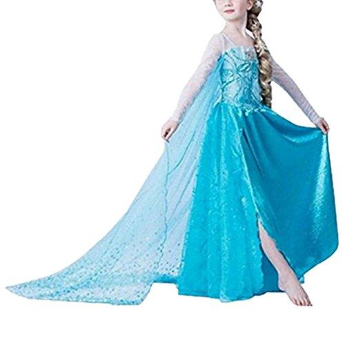 Kosplay Mädchen Partei Kostüm Prinzessin Kleid Prinzessin Kleid Kostüme Eiskönigin Prinzessin Kostüm Kinder Kleid Mädchen Weihnachten Verkleidung Karneval Party Halloween Fest