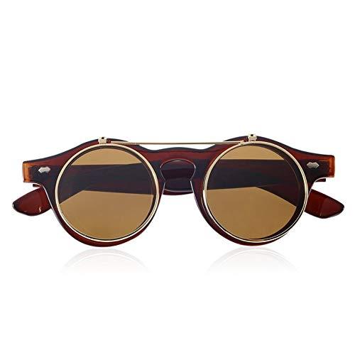 HoganeyVan Sunglasses 1 Classic Steampunk Goth Glasses Goggles Round Flip Up Sunglasses Retro Vintage Fashion Accessories Fashion Trend Round Eyeglass