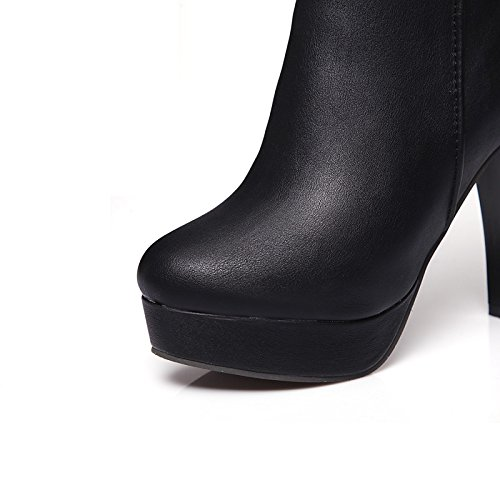 Hsxz Femmes Chaussures Pu Similicuir Automne Hiver Mode Bottes Bottes Bootie Talon Stiletto Bout Rond Cheville Bottes / Cheville Bottes Mid-calf Boucle Bottes Pour Blanc