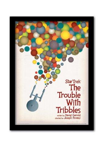 """Pyramid International - Stampa incorniciata in formato A3 di Star Trek con scritta """"The Trouble with Tribbles"""""""