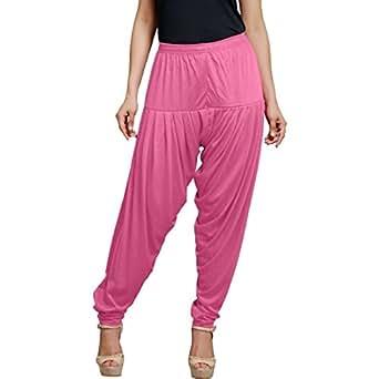 Smartees Pink Color Viscose Patiala Pants for Women