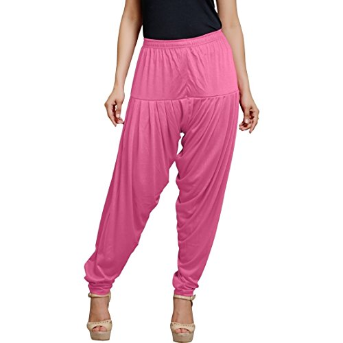 Smartees Pink Color Viscose Patiala Pants for Women