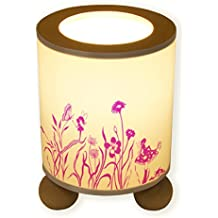 Lampe Tischlampe Schlummerlampe Kinderlampe Nachttischlampe mit Schalter Elfenland Elfen und Blumen mit Schmetterling tl015 - ausgewählte Farbe: *Pink*